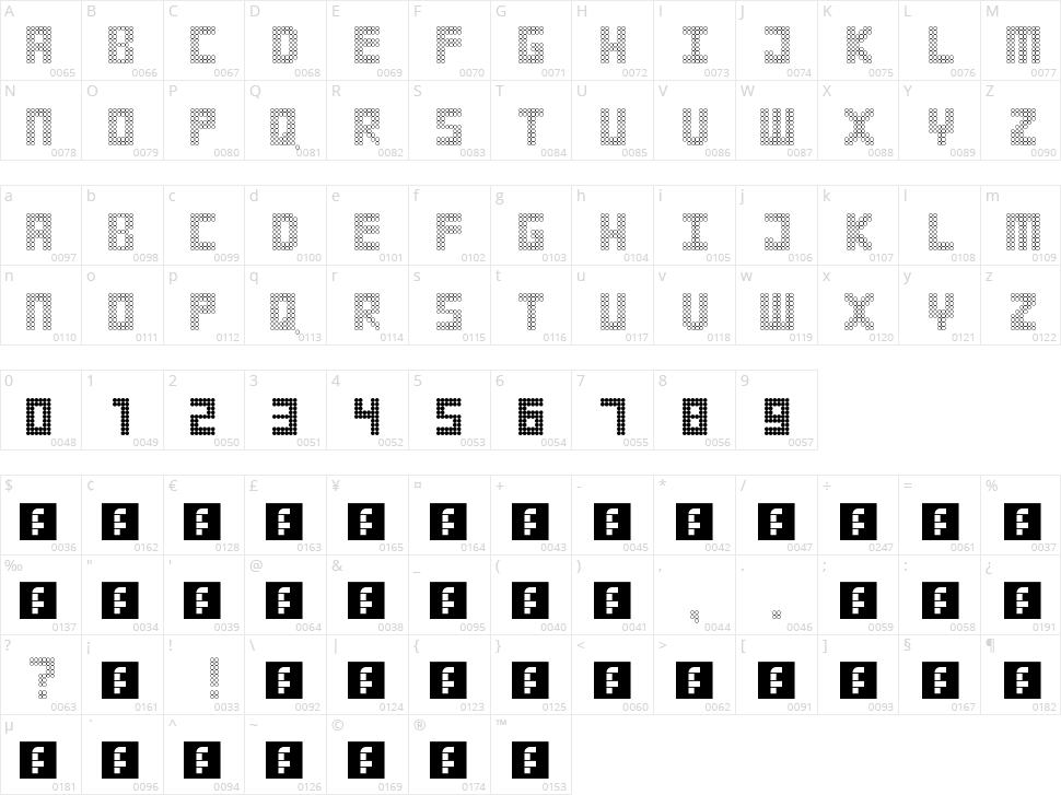 Strobelight Character Map