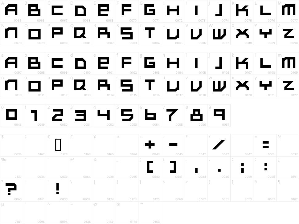 Subotnik Character Map