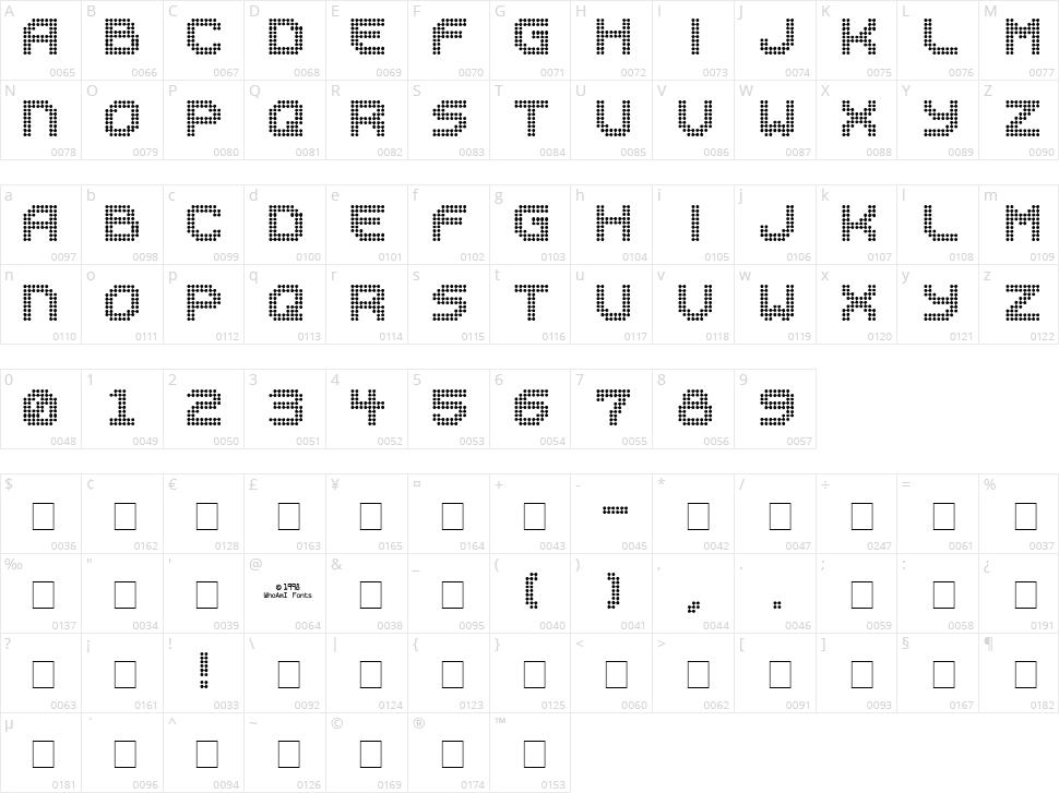Sucaba Character Map