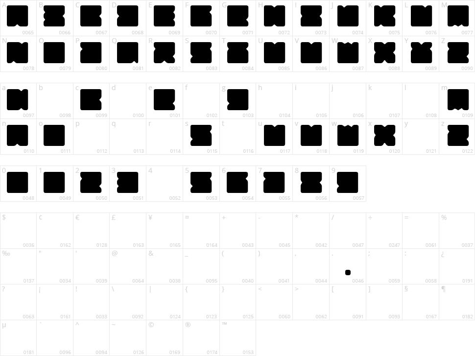 Suihou Character Map