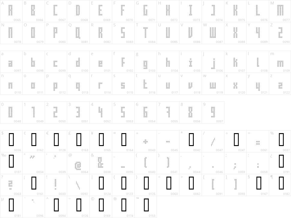 Superaircraft Character Map