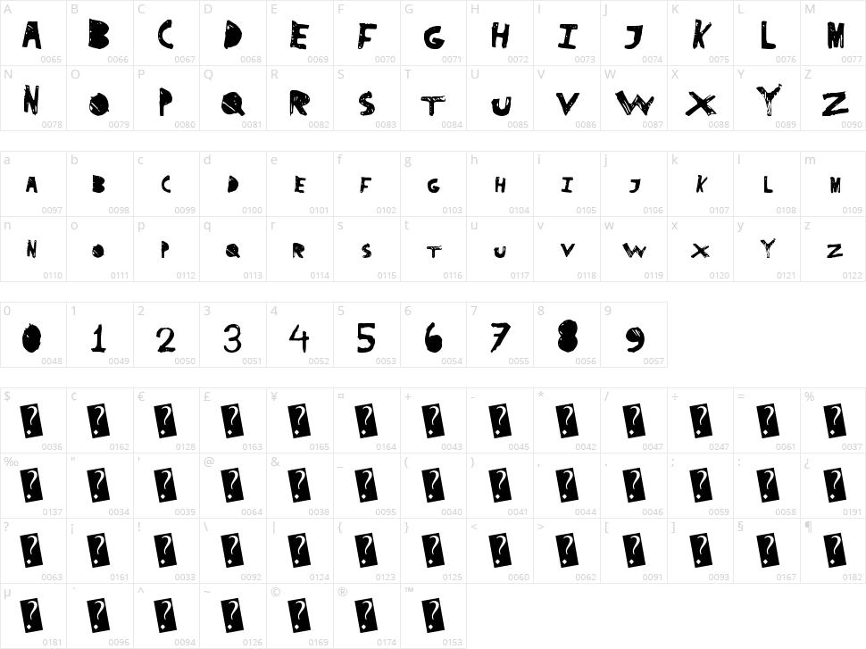 SuperDrag Character Map