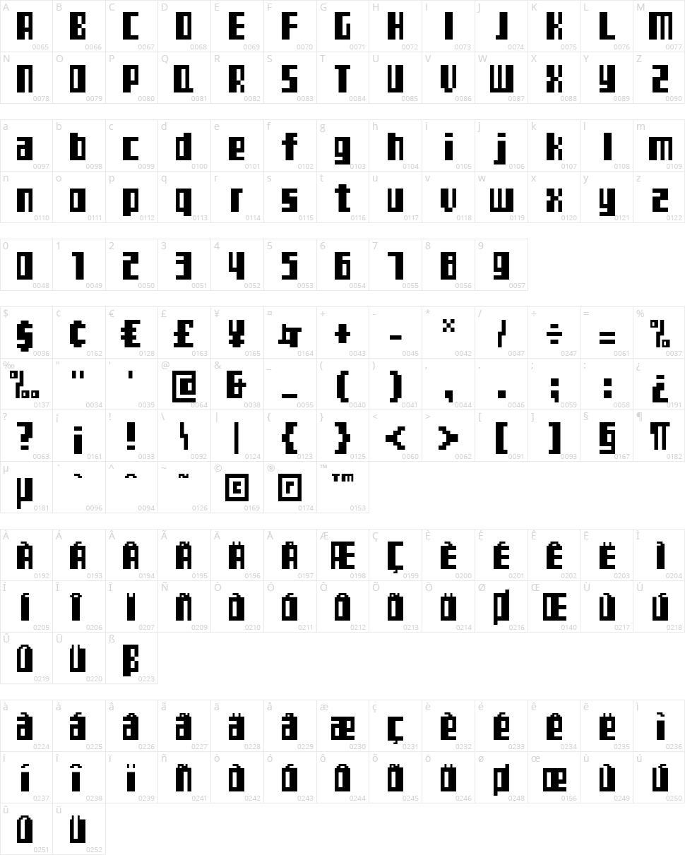 TeleTekst Character Map