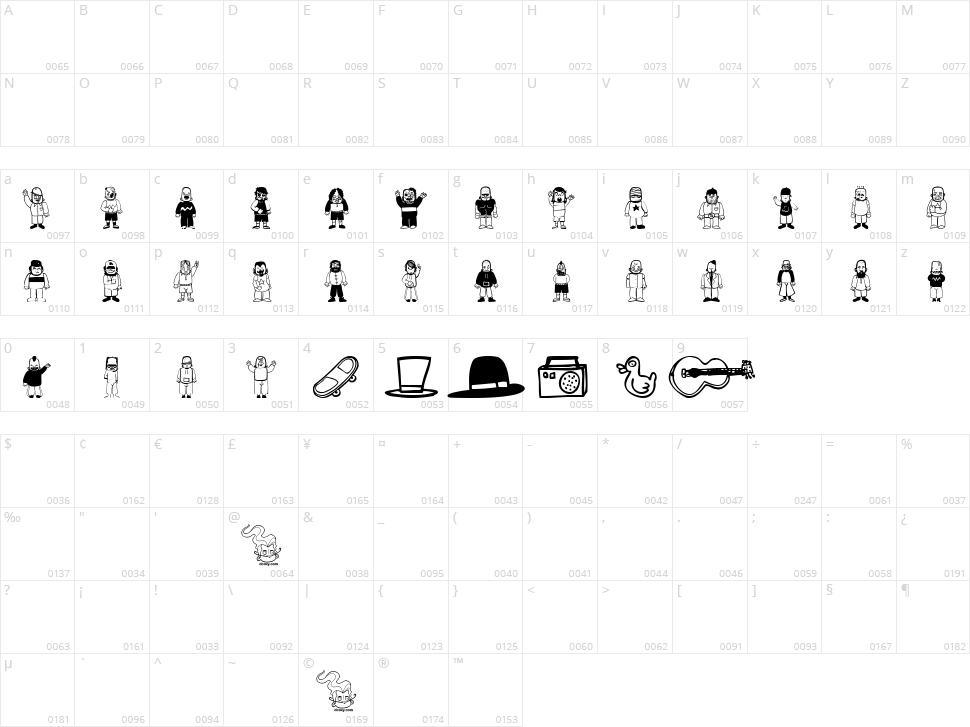 Teubé Tribute Character Map