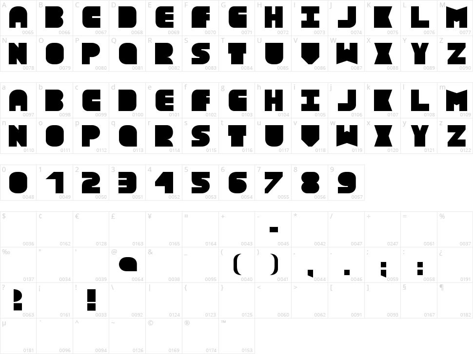 Text Box Character Map
