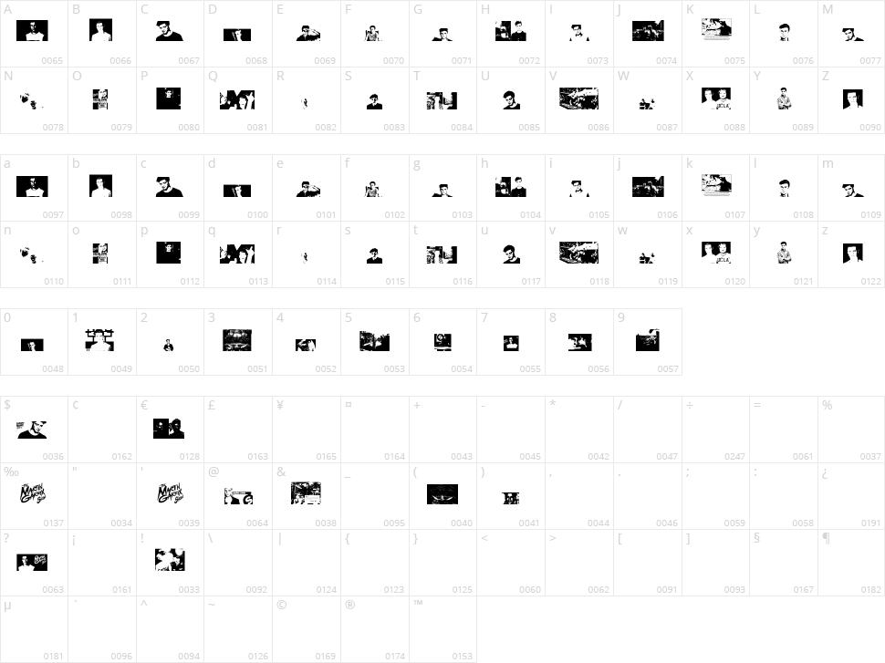 The Martin Garrix Font Character Map