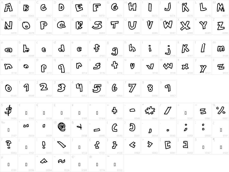 This Font Looks Awesome Character Map