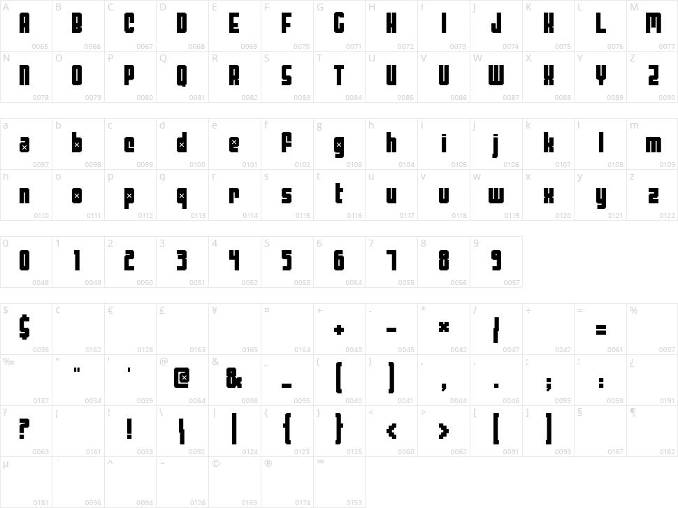 Threelambda Character Map