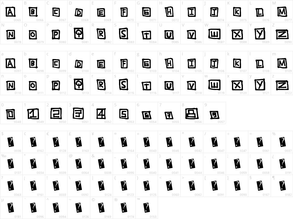 TightBox Character Map