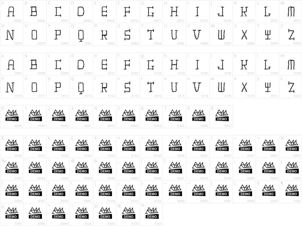 Tiritona Character Map
