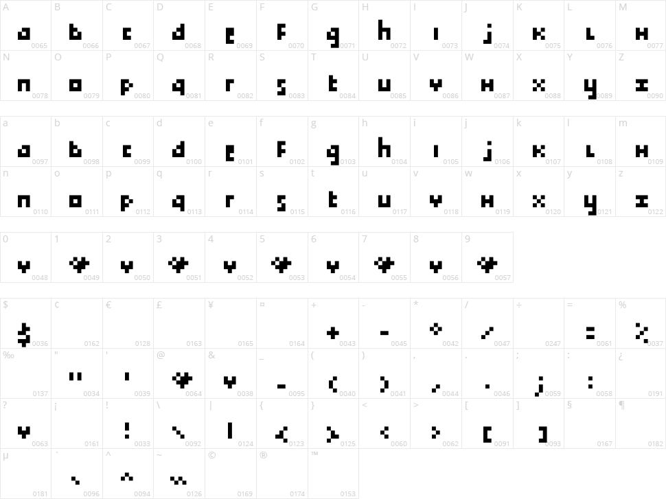 Tokayz Character Map