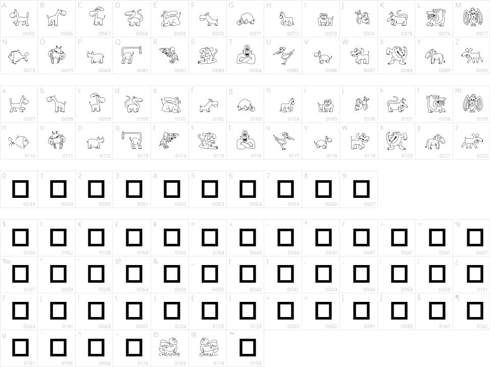 TPF Ubiquitous Character Map