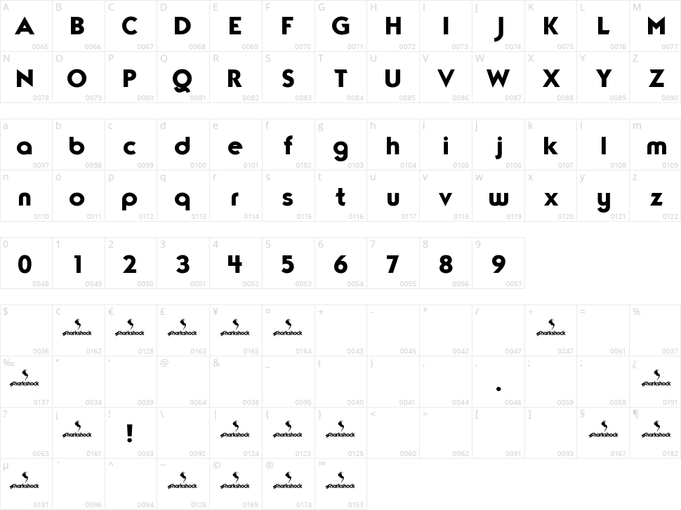 TypoGraphica Character Map