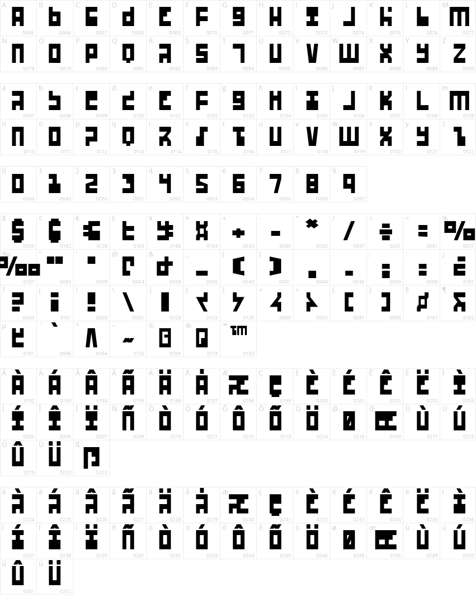Ufo Hunter Character Map