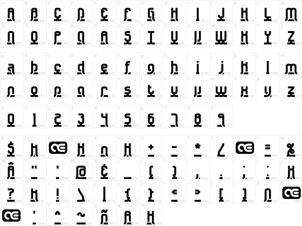 Underscore Character Map