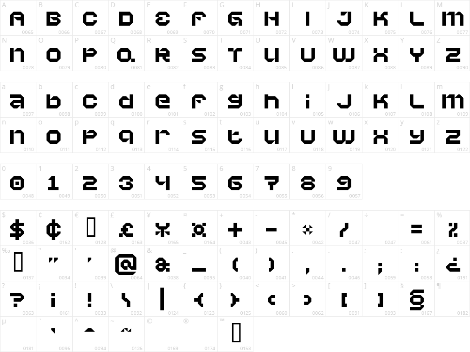 Vaporbyte Character Map