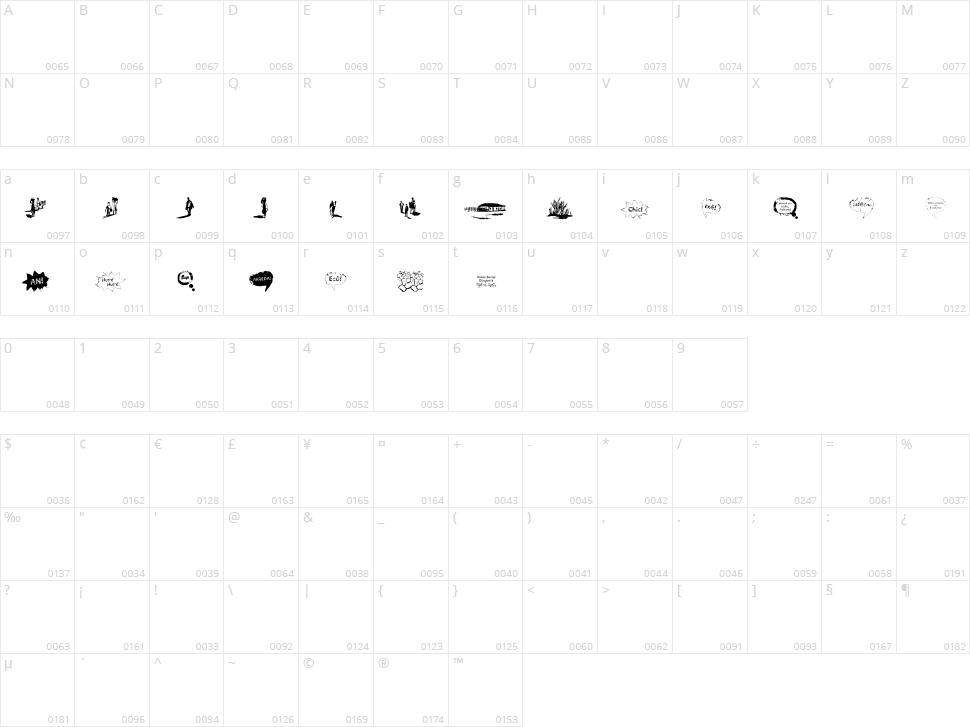 Vidas Secas Dingbats Character Map