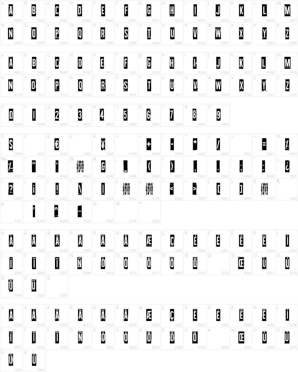 Wallowxenon Character Map