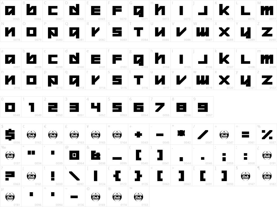 Warheed Character Map