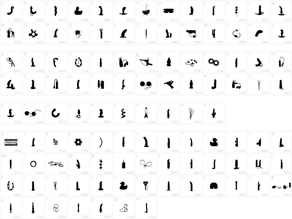 WC XXXplicit Bta Character Map