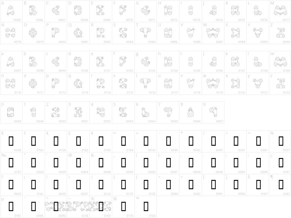 Web Press Character Map