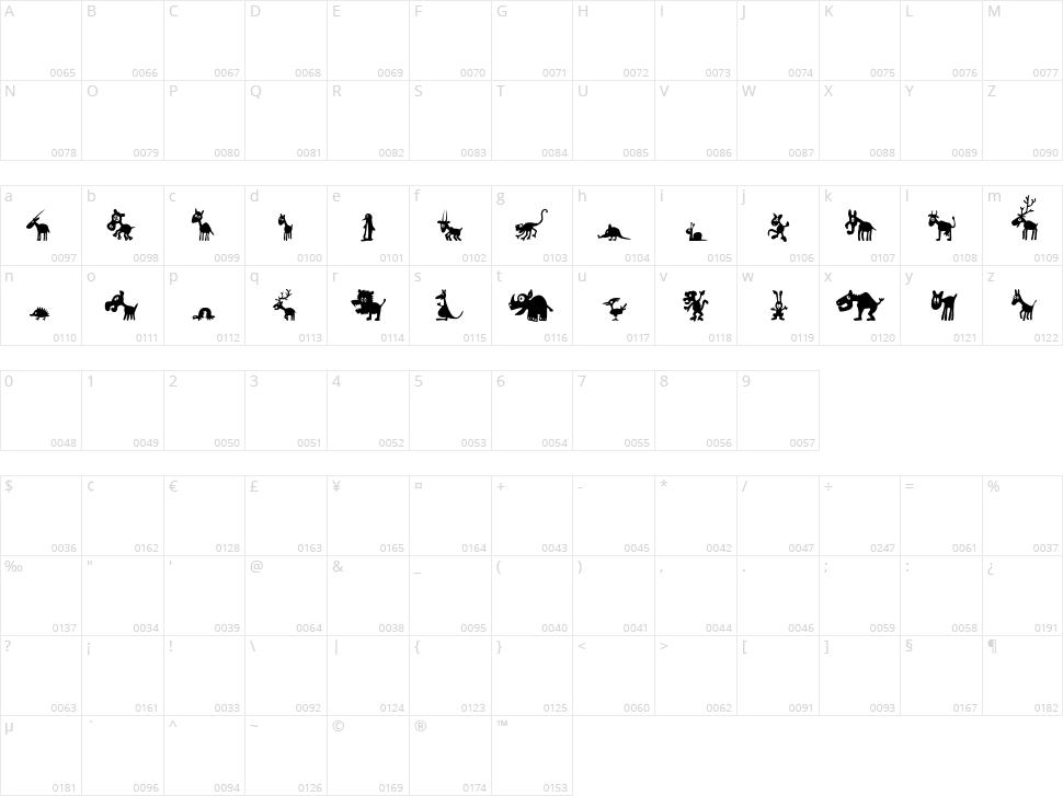 FE Win Pets 1 Character Map