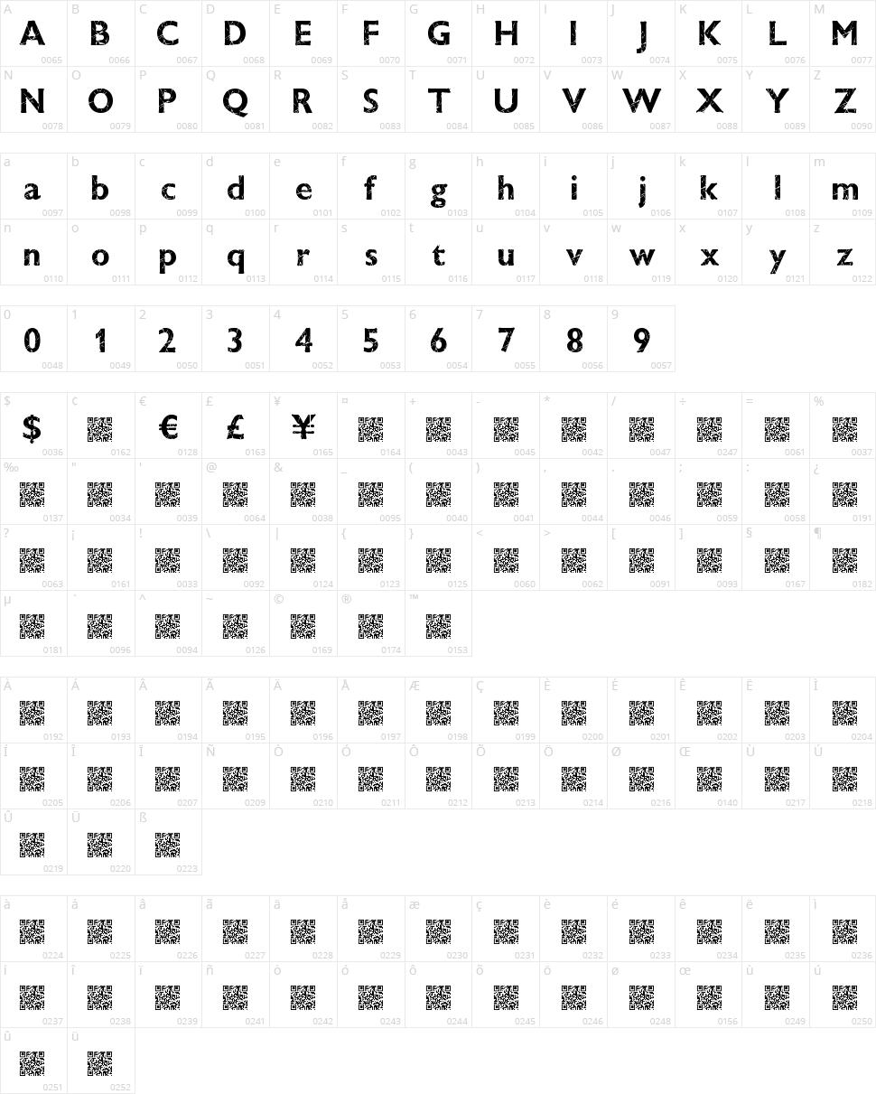 Window Crash Character Map