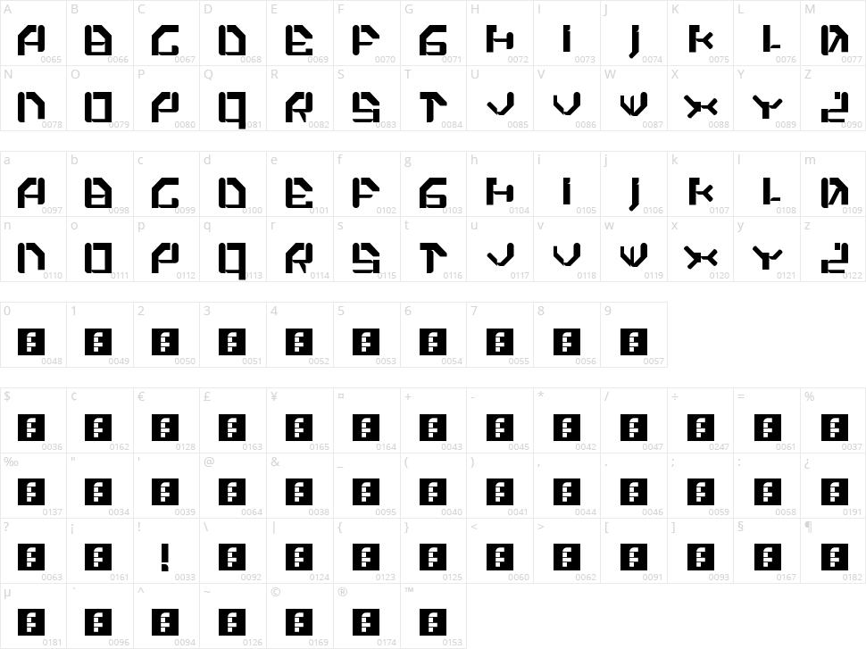 Xiaku! Character Map