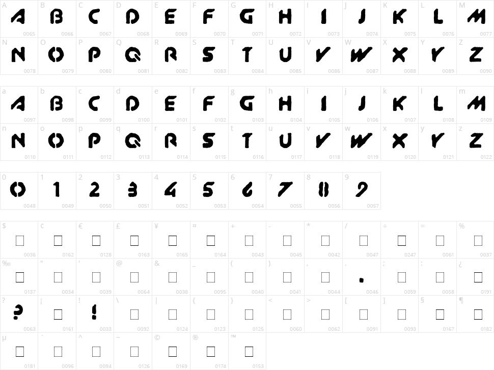 XitRAM! Character Map