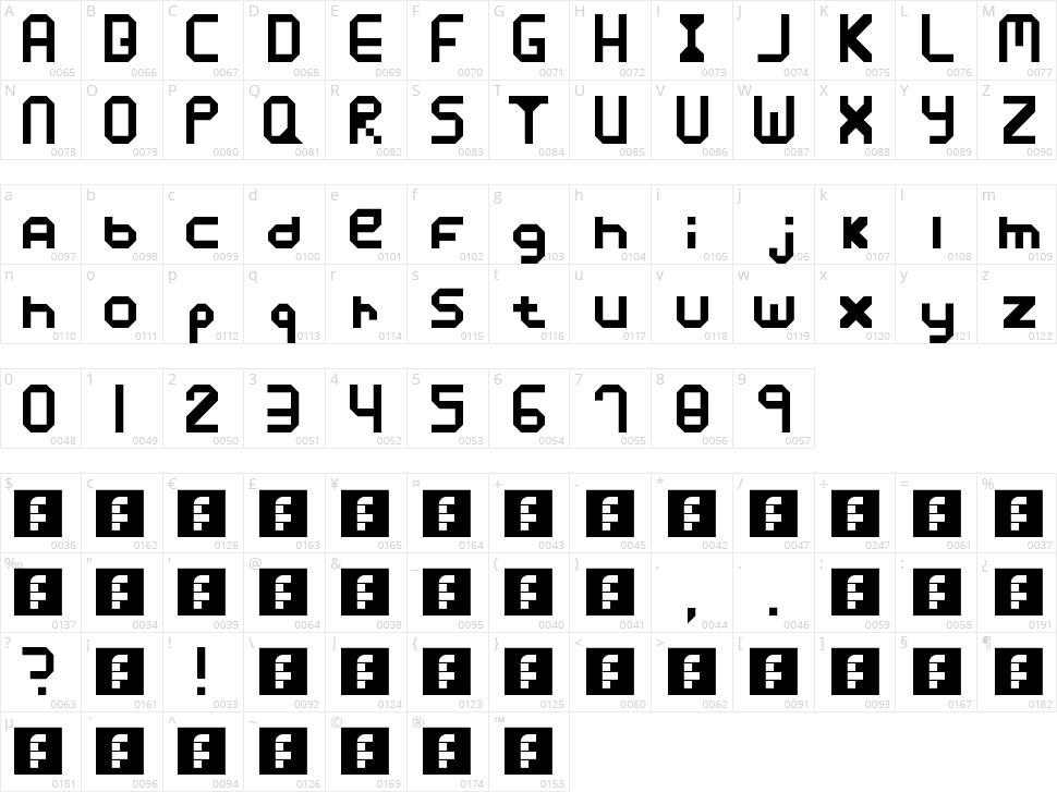Xposure Character Map