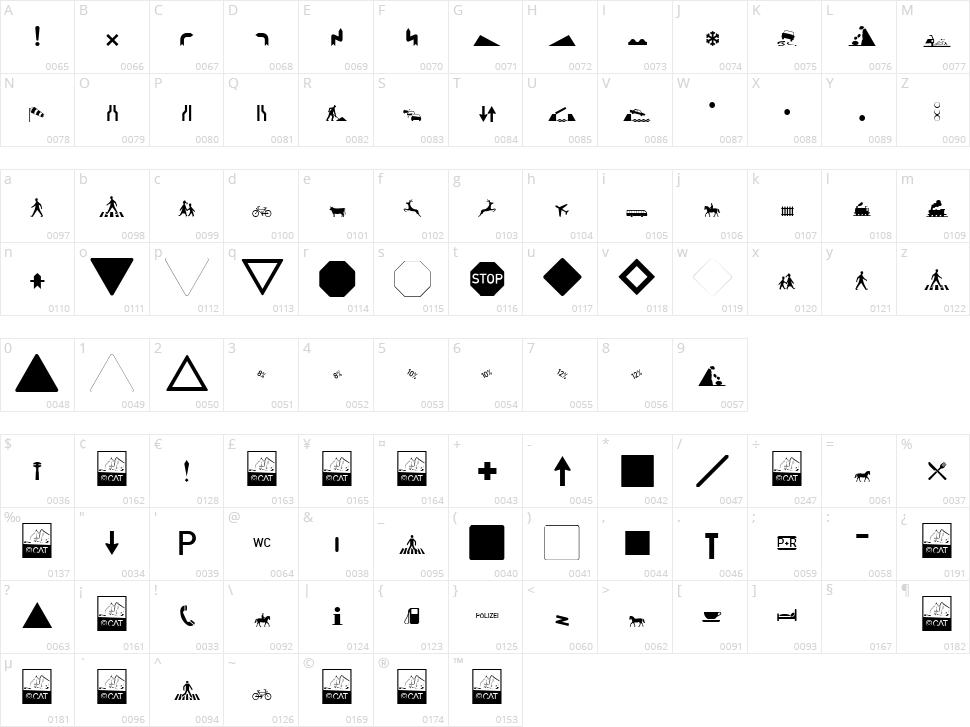 Zeichen Alt Character Map