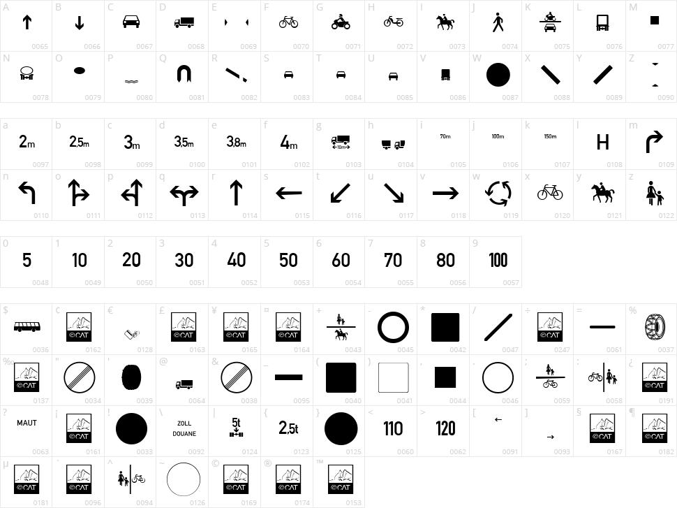 Zeichen Character Map