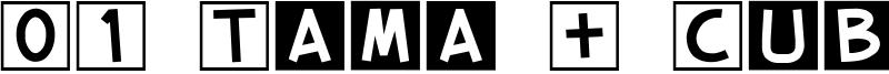 01 Tama + Cube vol.2 Font