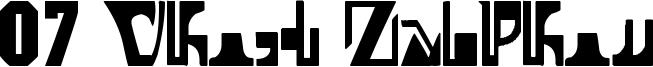07 Ghost Zaiphon Font