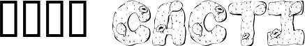 101! Cacti Font