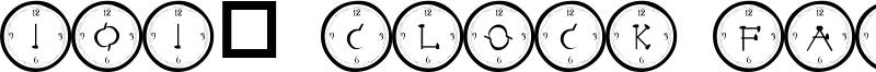 101! Clock Face Font