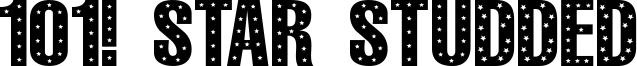 101! Star Studded Font