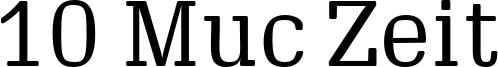 10 Muc Zeit Font