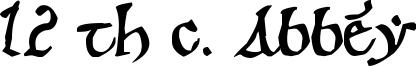 12 th c. Abbey Font