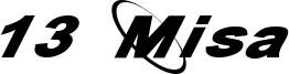13 Misa Font
