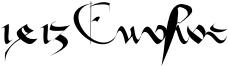 1413 Cursive Font