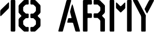 18 Army Font