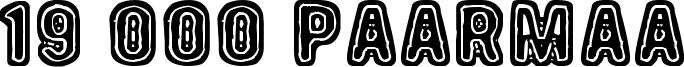 19 000 Paarmaa Font