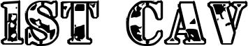 1st Cav Font
