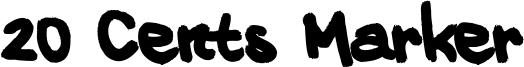 20 Cents Marker Font