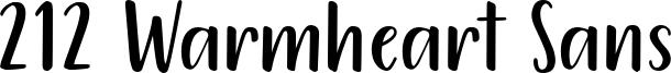 212 Warmheart Sans Font