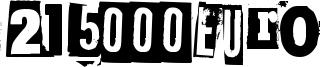215000Euro Font