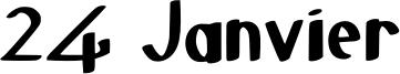 24 Janvier Font