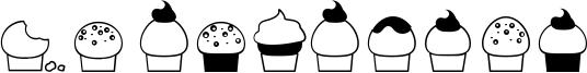32 cupcakes Font