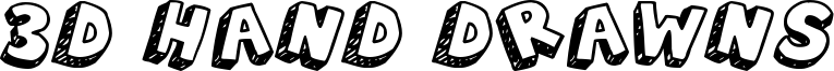 3D Hand Drawns Font